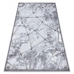 Tapete MEFE moderno B401 - Structural dois níveis de lã cinza escuro