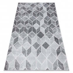 Tapete MEFE moderno B400 Cubo, geométrico 3D - Structural dois níveis de lã cinza escuro