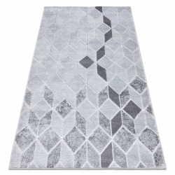 Modern MEFE carpet B400 Cube, geometric 3D - structural two levels of fleece grey