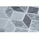 Dywan MEFE nowoczesny B400 Kostka, geometryczny 3D - Strukturalny, dwa poziomy runa szary