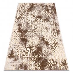 Dywan MEFE nowoczesny 8724 Ornament, vintage przecierany - Strukturalny, dwa poziomy runa beż / złoty