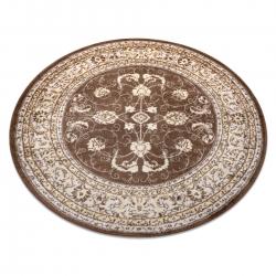Dywan MEFE nowoczesny Koło 2312 Ornament, ramka - Strukturalny, dwa poziomy runa ciemny beż