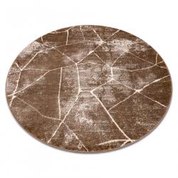 Dywan MEFE nowoczesny Koło 2783 Marmur - Strukturalny, dwa poziomy runa ciemny beż
