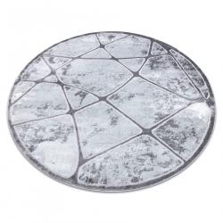 модерен MEFE килим кръг B401 - structural две нива на руно тъмно сив