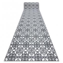 Runner ARGENT FLOWERS - W4949 white / grey