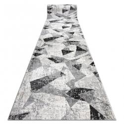 Tapis de coluoir TULS 51211 moderne, Géométrique anthracite