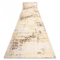 Tapis de coluoir Structural 8722 Lignes vintage, cadre deux niveaux de molleton or
