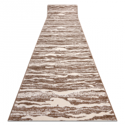 Runner Structural MEFE 8761 Waves - two levels of fleece beige