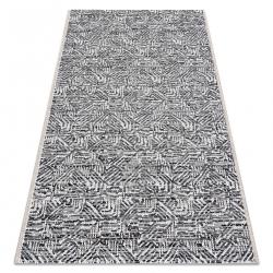 Koberec COLOR 47373960 SISAL labyrint sivá / béžový