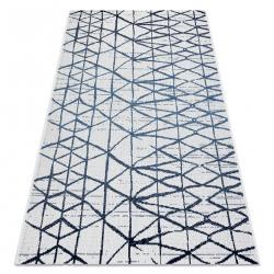 Carpet COLOR 47278306 SISAL lines, triangles beige / blue