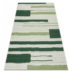 Tapis COLOR 19676362 SISAL lignes beige / vert