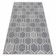 Carpet SPRING 20404332 Hexagon sisal, looped - grey