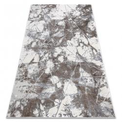 Dywan NOBLE nowoczesny 1515 64 Marmur, geometryczny - Strukturalny, dwa poziomy runa krem / szary