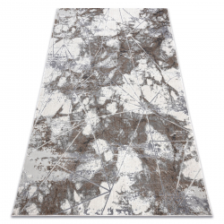 Modern NOBLE carpet 1515 64 Marble, geometric - structural two levels of fleece cream / grey
