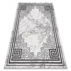 Tapis NOBLE moderne 1517 65 Cadre, grec, marbre - Structural deux niveaux de molleton crème / gris
