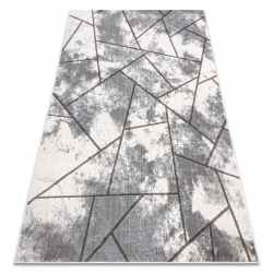 Modern NOBLE carpet 1518 67 Vintage, geometric - structural two levels of fleece cream / grey