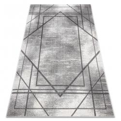 Tapis NOBLE moderne 1520 45 vintage, géométrique, lignes - Structural deux niveaux de molleton gris