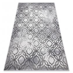 Tapis NOBLE moderne 1532 45 vintage, Treillis marocain - Structural deux niveaux de molleton gris