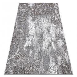 модерен NOBLE килим 6773 45 украшение vintage - structural две нива на руно сметана / сив
