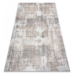 модерен NOBLE килим 9731 45 розетка vintage - structural две нива на руно сив / бежов