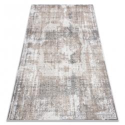 Tapis NOBLE moderne 9731 45 Rosette vintage - Structural deux niveaux de molleton gris / beige