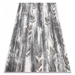 Modern NOBLE carpet 9732 47 Herringbone vintage - structural two levels of fleece grey / beige