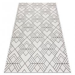 Ковер SIZAL FLAT 48731960 квадраты диаманты, геометрический пломбир / серый