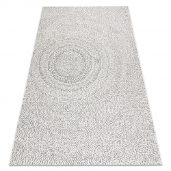 Teppich FLAT SISAL 48832367 Kreise, Punkte creme / grau