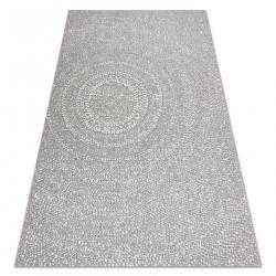 Teppich FLAT SISAL 48832637 Kreise, Punkte grau / creme