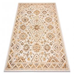 Carpet COLOR 19521460 SISAL ornament, frame, cinnamon - beige