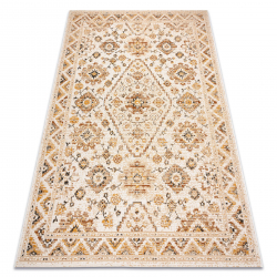 Tapis COLOR 19521460 SISAL ornement, cadre, cannelle - beige