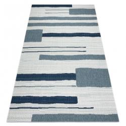 Tapete COLOR 19676369 SISAL linhas bege / azul