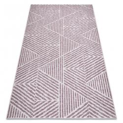 Carpet COLOR 47176260 SISAL lines, triangles, zigzag beige / blush pink