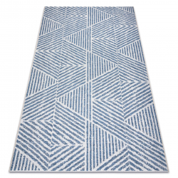 Tapis COLOR 47176360 SISAL lignes, triangles, zigzag beige / bleu