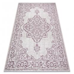 Teppich COLOR 47295260 SISAL Ornament, Rahmen beige / violett