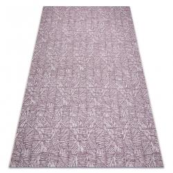 Carpet COLOR 47373260 SISAL lines, triangles, herringbone purple / beige