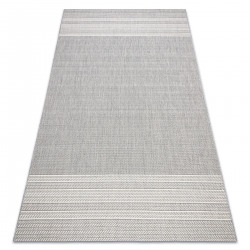 Teppich FLAT SISAL 48829637 Fischgrätenmuster grau