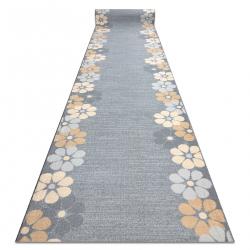 Runner anti-slip MARGARETKA flower, gum grey