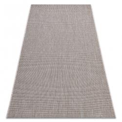 CARPET SIZAL FLOORLUX 20580 plain, flat, one colour - silver / black