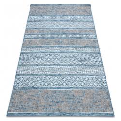 Tapis EN CORDE SIZAL LOFT 21118 BOHO ivoire/argentin/azul
