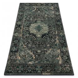 Wool carpet POLONIA Dukato Ornament iron green
