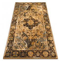 Vlnený koberec POLONIA Dukato Ornament koňak béžová