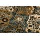 Tapete de lã POLONIA Samari Ornamento jadeit castanho