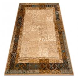Gyapjú szőnyeg Omega LUMENA etnikai, vintage teve