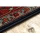 Tapete de lã POLONIA Tesoro Quadro azul escuro