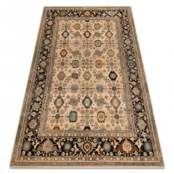 Vlnený koberec OMEGA PARILLO rám jadeit hnedá