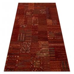 KASHQAI 4329 300 gyapjú szőnyeg patchwork bordó