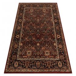 Wool carpet KASHQAI 4348 300 frame, oriental claret