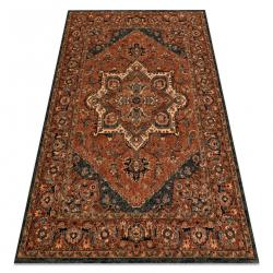 Wool carpet KASHQAI 4354 501 rosette, oriental terracotta