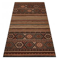 Wool carpet KASHQAI 4356 500 ethnic terracotta